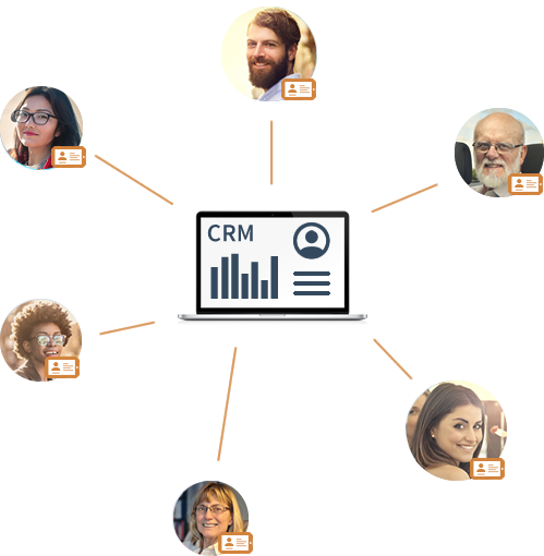Capture quickly and accurately contact information in your CRM
